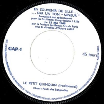 Fanfare Octave CALLOT En souvenir de Lille... sur un ton