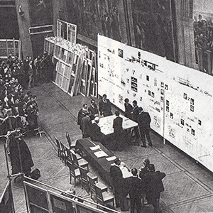 24 novembre 1966 : Premier diplôme présenté en équipe dans la salle Melpomène de l'Éclie des Beaux-Arts