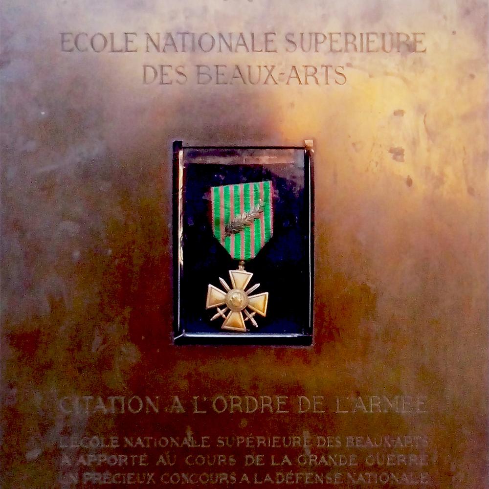 Croix de Guerre et Légion d'Honneur décernées à l'ENSBA